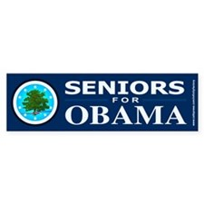 SENIORS FOR OBAMA Bumper Stickers