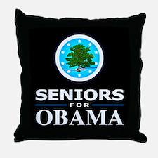 SENIORS FOR OBAMA Throw Pillow