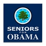 SENIORS FOR OBAMA Tile Coaster