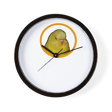 Cute Yellow budgie Wall Clock