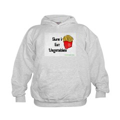 Sure I Eat Vegetables French Hoodie