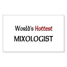 World's Hottest Mixologist Rectangle Sticker