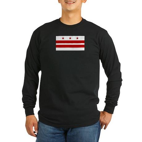 Washington D.C. City Flag Long Sleeve Dark T-Shirt
