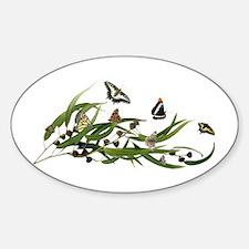 Eucalyptus Butterfies Sticker (Oval)