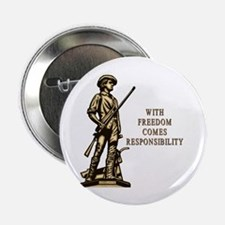 "With Freedom(MM) 2.25"" Button (100 pack)"
