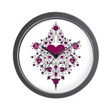 Hearts and Vines Wall Clock