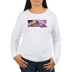 FlagPrideDolp-GoldSilver Long Sleeve T-Shirt