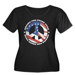 Obama for Peace Women's Plus Size Scoop Neck Dark