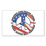Obama for Peace Rectangle Sticker 10 pk)