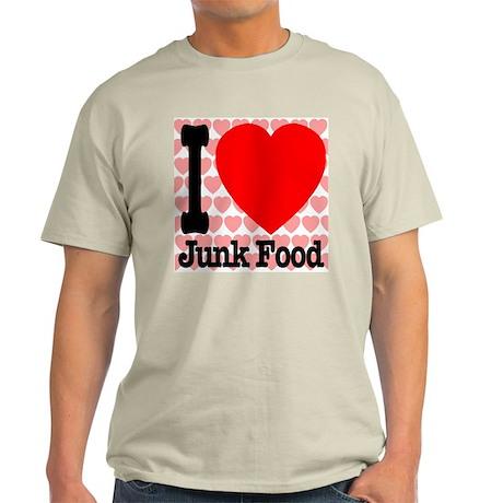I Love Junk Food Light T-Shirt