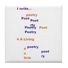 Poets 4 Life Tile Coaster