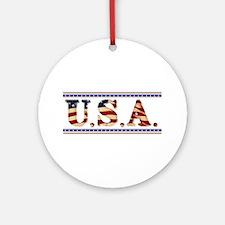 USA Stars/Strips Ornament (Round)