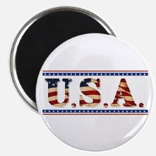"USA Stars/Strips 2.25"" Magnet (10 pack)"