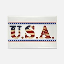 USA Stars/Strips Rectangle Magnet