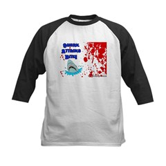 Shark Attacks Bite! Survivor? Kids Baseball Jersey