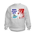 Shark Attacks Bite! Survivor? Kids Sweatshirt