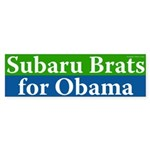 Subaru Brats for Obama bumper sticker