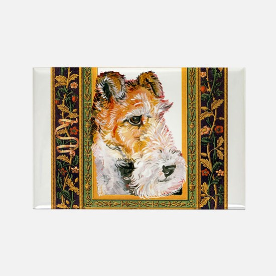 Vintage Fox Terrier Rectangle Magnet