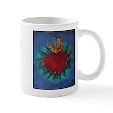 Sacred Heart with Blue Backgr Mug