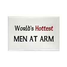 World's Hottest Men At Arm Rectangle Magnet