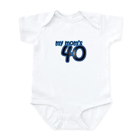 Mom Is 40 & Blue Infant Bodysuit