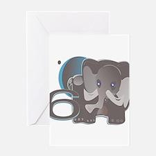 ELEPHANT6 at TIKI TOON Greeting Card