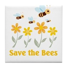 Save the Bees Tile Coaster