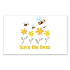 Save the Bees Rectangle Decal