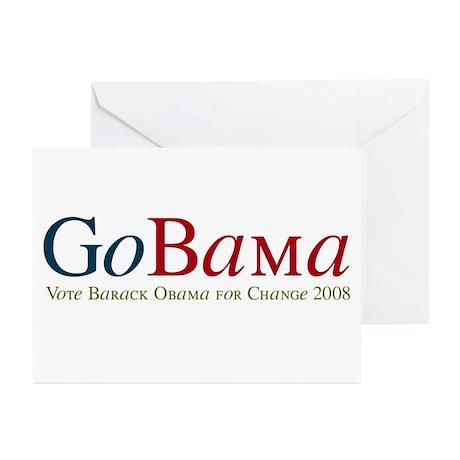 GoBama Go Obama Greeting Cards (Pk of 20)
