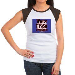 White Trash Couture Blue Women's Cap Sleeve T-Shir