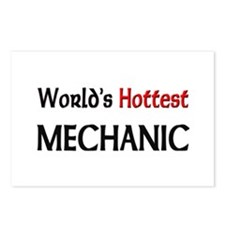 World's Hottest Mechanic Postcards (Package of 8)