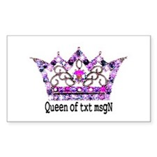 Queen of txt msgN Rectangle Decal