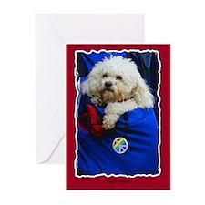 Peace Poodle Dog card blank inside/bx 10