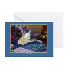 """""""Comfy Pom"""" Pomeranian Dog Card blank/bx10"""