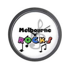 Melbourne Rocks Wall Clock