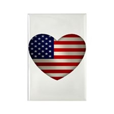 Heart America Rectangle Magnet