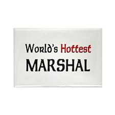 World's Hottest Marshal Rectangle Magnet