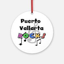 Puerto Vallarta Rocks Ornament (Round)
