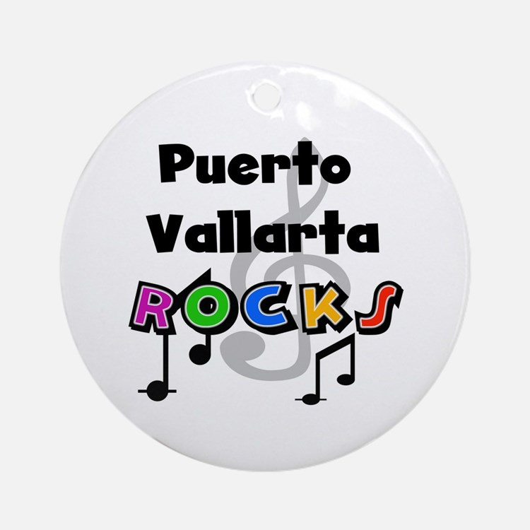 Puerto Vallarta Rocks Ornament (Round)