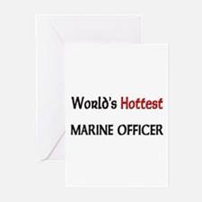 World's Hottest Marine Officer Greeting Cards (Pk