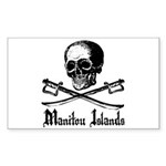 Manitou Island Pirate Rectangle Sticker