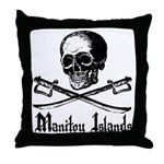 Manitou Island Pirate Throw Pillow