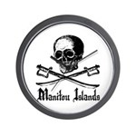 Manitou Island Pirate Wall Clock