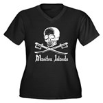 Manitou Island Pirate Women's Plus Size V-Neck Dar
