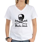 Manitou Island Pirate Women's V-Neck T-Shirt