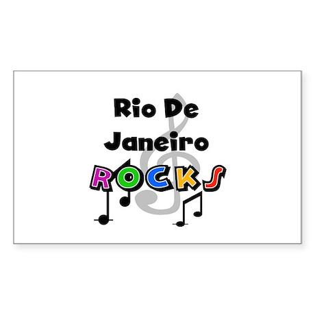 Rio de Janeiro Rocks Rectangle Sticker