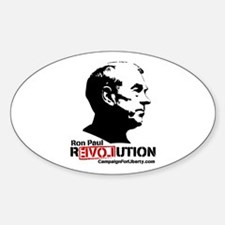 Ron Paul Revolution Oval Sticker (10 pk)