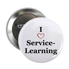 "I love service-learning 2.25"" Button (10 pack)"
