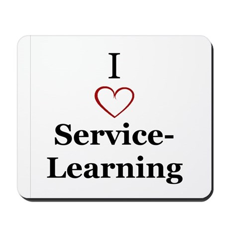 I love service-learning Mousepad