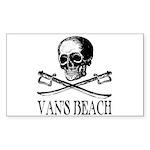 Vans Beach Pirate Rectangle Sticker
